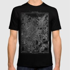 Los Angeles, California, Circa 1908. SMALL Black Mens Fitted Tee