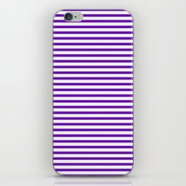 Purple Candy Stripes iPhone Skin