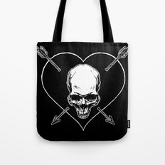 Eros & Thanatos (Jolly Roger Black Flag) Tote Bag