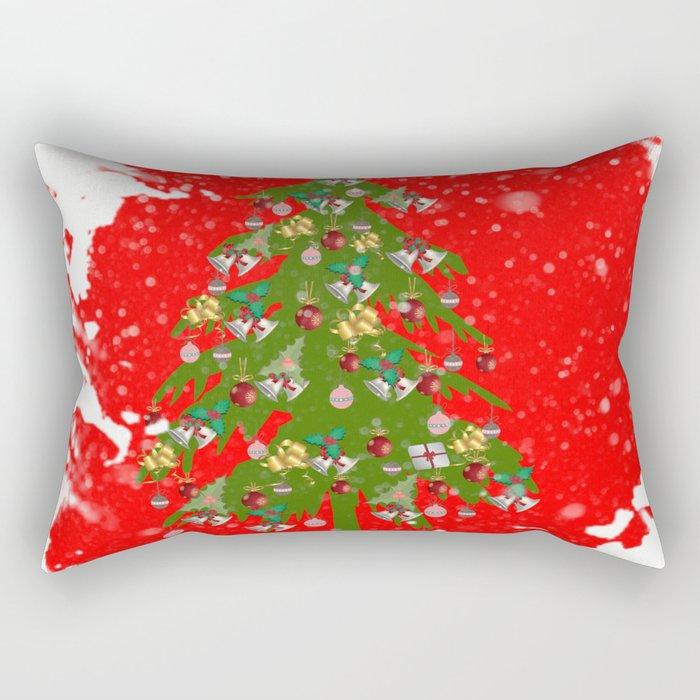 Xmas tree Vignette Rectangular Pillow