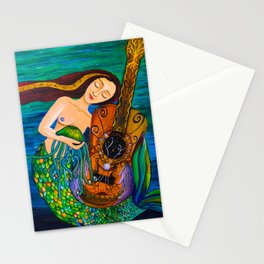 Listen to the waves of your vibrations Stationery Cards