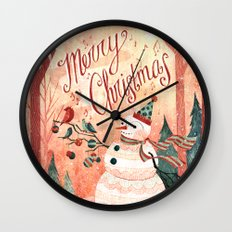 Christmas Card 2015 Wall Clock