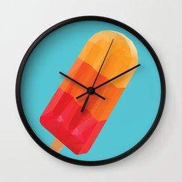 Ice Block Polygon Art Wall Clock