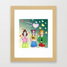 Girls Can Do Anything Framed Art Print