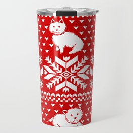 Fair Isle Westies Travel Mug