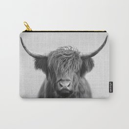 Highland Cow - Black & White Carry-All Pouch