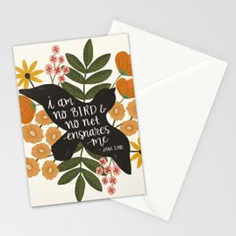 I Am No Bird Jane Eyre Quote Stationery Cards
