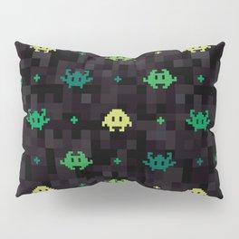 Pixel Space Monsters (Green) Pillow Sham