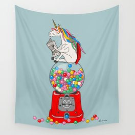 Unicorn Gumball Poop Wall Tapestry
