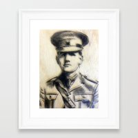 soldier Framed Art Prints featuring Soldier by Tamsin Wildy