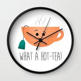 What A Hot-Tea Wall Clock
