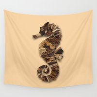 seahorse Wall Tapestries featuring Seahorse by Anna Milousheva