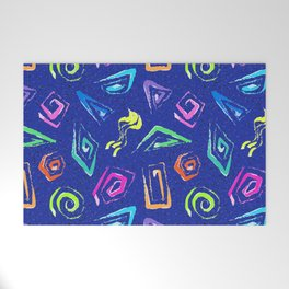 Surf Spiral Shapes in Neon Periwinkle Welcome Mat