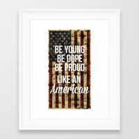 american Framed Art Prints featuring American by Karolis Butenas
