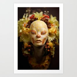 Golden Harvest Muertita Detail Art Print