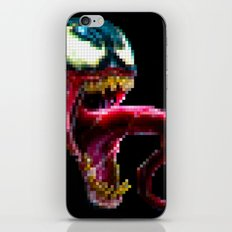 Venom Pixel : Black Background iPhone & iPod Skin
