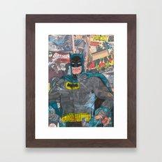 Vintage Comic Bat man Framed Art Print