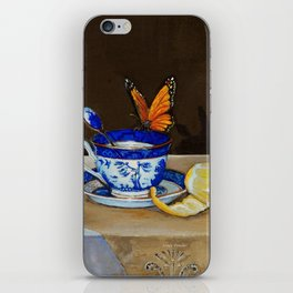 Teacup with Butterfly iPhone Skin