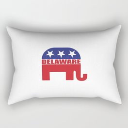 Delaware Republican Elephant Rectangular Pillow