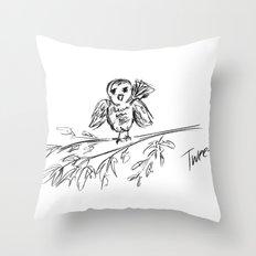A Bird :: The Original Tweet Throw Pillow