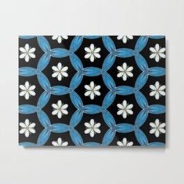 hippie flower pattern Metal Print