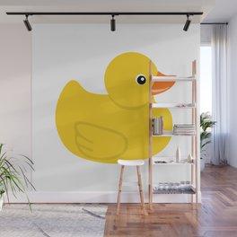 Yellow rubber duck Wall Mural