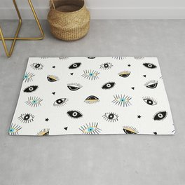 Eyes in the Dark Pattern Rug