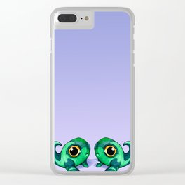 Tadpole Monster in Green Clear iPhone Case