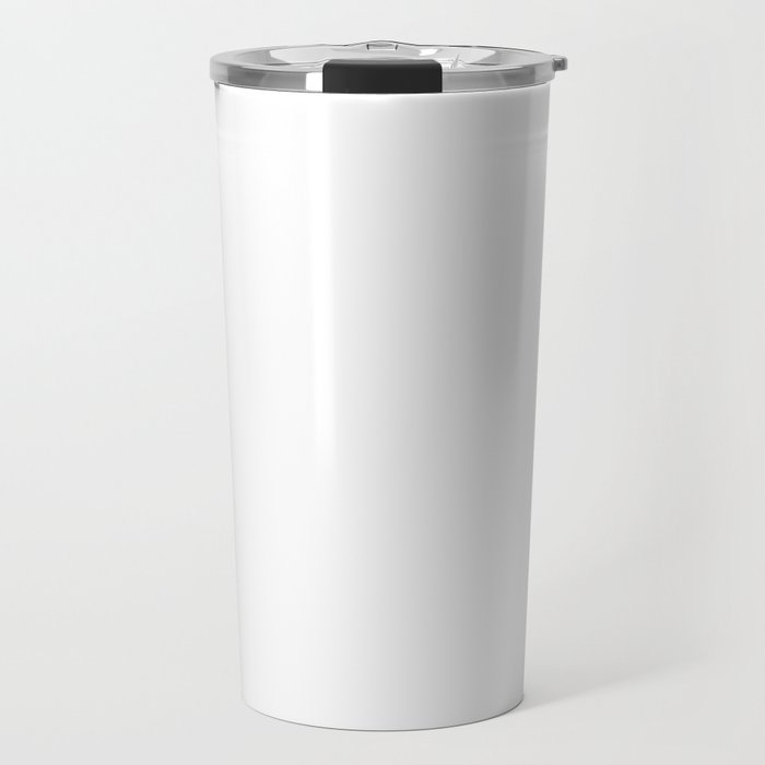 Plain White Simple Solid Color All Over Print Travel Mug