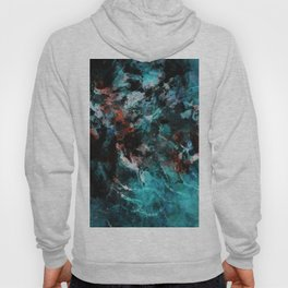 Abstract and Modern Teal Painting Hoody