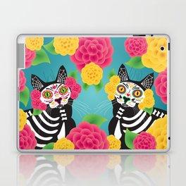 Gatos Dia de los Muertos Laptop & iPad Skin