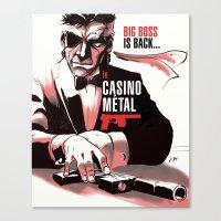 metal gear Canvas Prints featuring METAL GEAR: Casino Metal by JoPruDuction Art