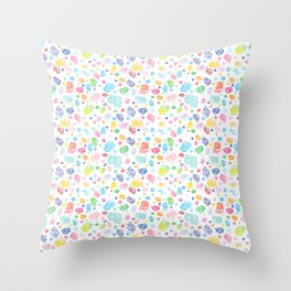 Rainbow Snog Party! Throw Pillow