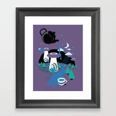 Late To The Party Framed Art Print