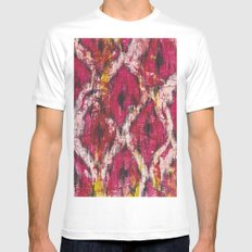Ikat1 MEDIUM Mens Fitted Tee White