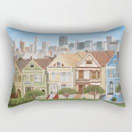 San Francisco Painted Lady Houses Rectangular Pillow