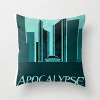 resident evil Throw Pillows featuring Resident Evil Apocalypse by JackEmmett
