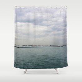 Singapore Shipping Shower Curtain