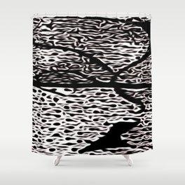 Stylized1SpotFace Shower Curtain