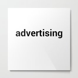 advertising Metal Print