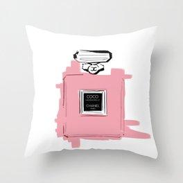 Pink perfume #6 Throw Pillow