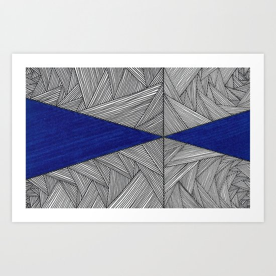 A Little Blue 4 Art Print