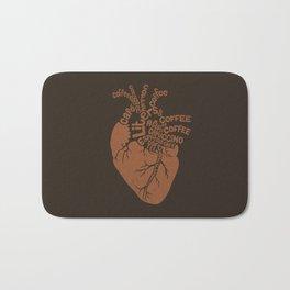 Coffee Lover Heart Bath Mat