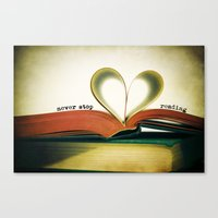 read Canvas Prints featuring Read by Lawson Images