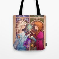 jon snow Tote Bags featuring Let Me In by Megan Lara