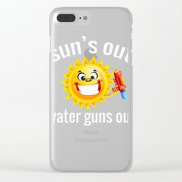 Funny Summer Squirt Gun Graphic Design Print Clear iPhone Case
