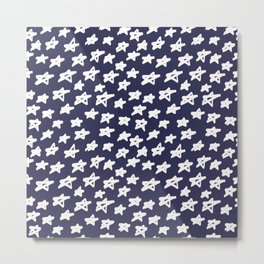 Stars on blue background Metal Print