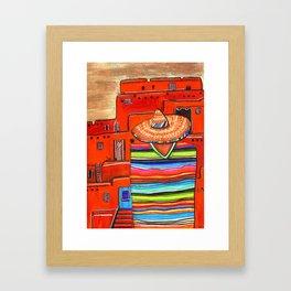 sand storm Framed Art Print