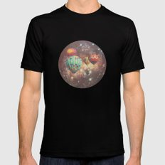 Riding in Space MEDIUM Black Mens Fitted Tee