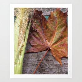 A Glimpse of autumn Art Print